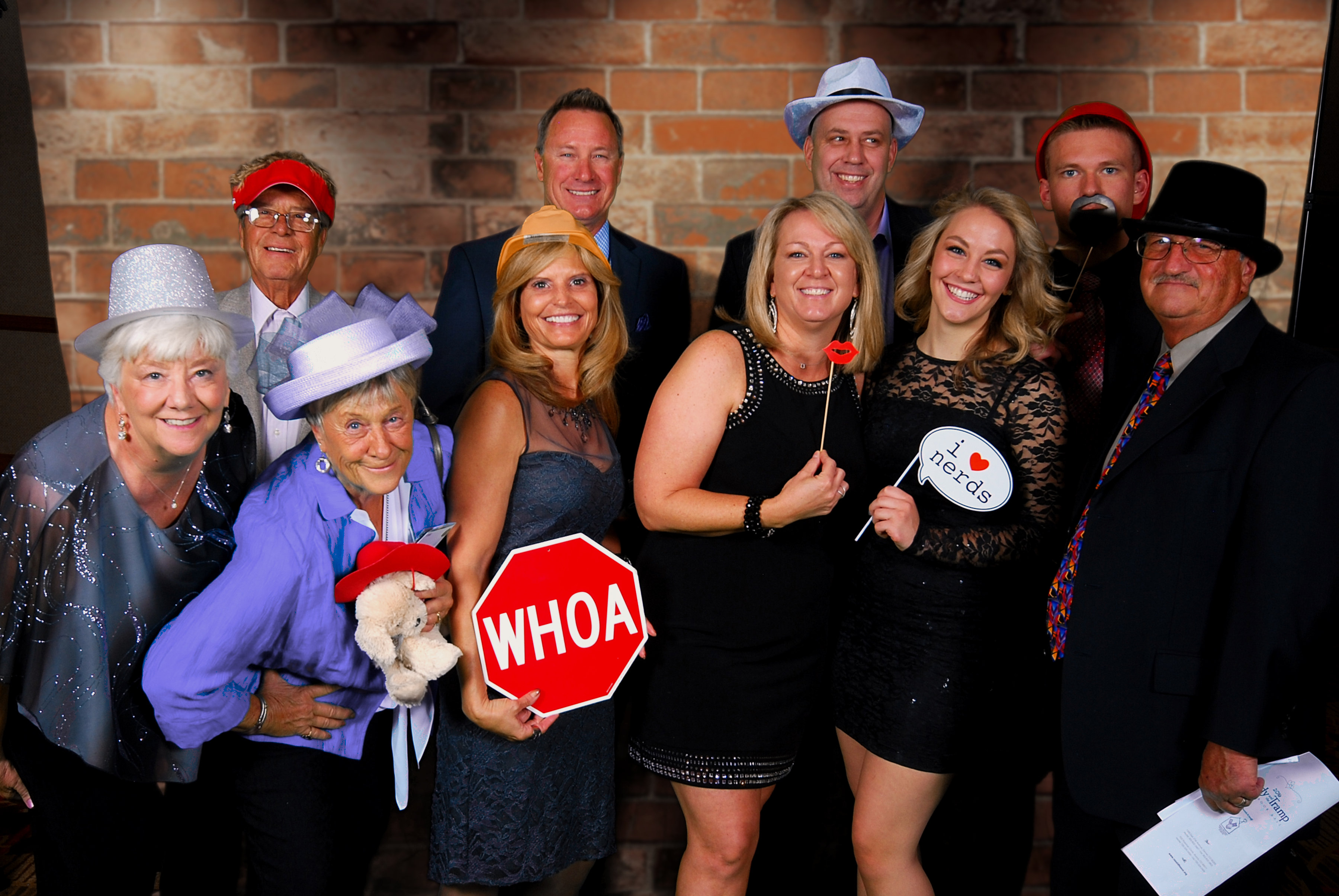 Storybook Ball guests posing in the photo booth