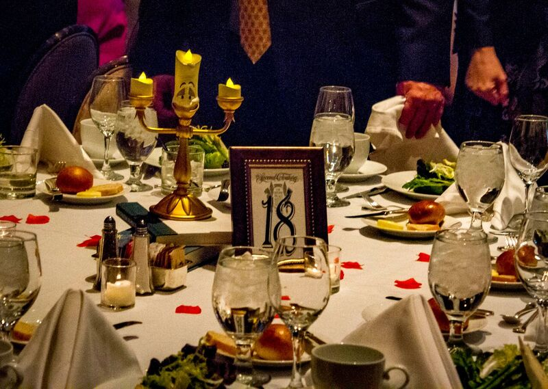 Decorated table at the Gala